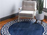 Navy Blue Round Bathroom Rug Navy Blue 8 X 8 Hera Round Rug