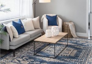 Navy Blue Rugs for Living Room 8 X 10 Arcadia Rug