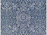 Navy Blue Rugs for Sale Kraatz Handwoven Navy Blue Ivory Rug