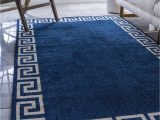Navy Blue Rugs for Sale Navy Blue 5 X 8 Greek Key Rug
