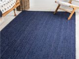 Navy Blue Sisal Rug 5 X 8 Braided Jute Rug
