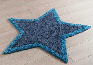 Navy Blue Star Rug Kids Star Rug 84cm