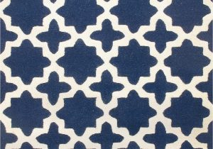 Navy Blue Star Rug Rugsville Star Trellis Navy Wool Rug