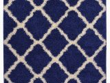 "Navy Blue Trellis Rug Rugstyles Line Navy Blue Trellis Shag area Rug Rugs Shaggy Collection Navy Blue 2 X 3 3"" Mat"