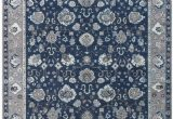 Navy Blue Wool Rug 100 Wool Hand Knotted Rug Navy Blue Gray Ivory Dark