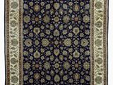 Navy Blue Wool Rug 8×10 E Of A Kind Cangelosi Hand Knotted Tabriz Navy 8 X 10 Wool area Rug