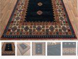 Navy Blue Wool Rug 8×10 Navy Blue Wool Tribal Rug