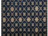 Navy Blue Wool Rug One Of A Kind Springview Hand Knotted Art Deco Navy Blue Beige 7 X 9 Wool area Rug