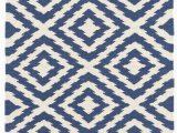 Navy Blue Woven Rug Clover Blue Woven Cotton Rug