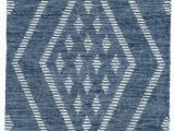 Navy Blue Woven Rug Healy Blue Woven Wool Rug