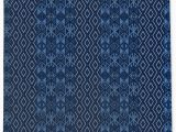 Navy Blue Woven Rug Louisiana Geometric Navy Blue area Rug