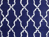 Navy Blue Woven Rug Superior Hand Woven and soft Shag Rug Trellis Collection Navy Blue White 8 Ft by 10 Ft 8 X 10