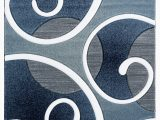 Navy Gray and White area Rug Zabala Abstract Navy Gray area Rug