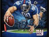 New York Giants area Rug New York Giants End Zone 17 Poster Black Framed Version