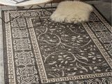 Nicole Miller area Rugs Lowes Black 5 X 8 Transitional Indoor Outdoor Rug
