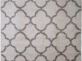 "Nicole Miller Synergy area Rug Details About Nicole Miller Designer 5×7 Shag Rug White Gray Trellis Actual 5 2"" X 7 2"""