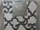 """Noble Excellence Bath Rugs Shower Curtain Noble Excellence Cornelli 72 X 72"""" Gray & White"""