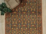 Non Slip area Rug Pad 8×10 Seline oriental Hand Knotted 8 X 10 Wool Red Yellow Navy area Rug