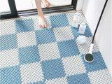 Non Slip Bathroom Rugs for Elderly Diy Splice Bath Mat Anti Slip Massage Shower Carpet Grid Pvc Plastic Mats for Stitching Puzzle Pad Bathroom Accessories