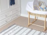Non toxic area Rug for Baby Grey Striped Scandi Nursery Rug for Baby Boy or Girl Room