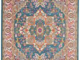 Nourison Passion Multicolor area Rug Nourison Passion Psn20 Teal Multicolor area Rug