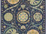 Nourison Suzani Teal area Rug Nourison Suzani Suz04 Blue area Rug