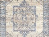 "Nuloom Ehtel Medallion Fringe area Rug or Runner Nuloom Ehtel Medallion Fringe area Rug Light Blue 2 6""x8 Runner"