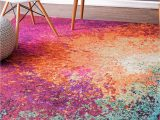 Nuloom Handmade Bold Abstract Floral Wool area Rug Chromacb28 Abstract Seascape Rug