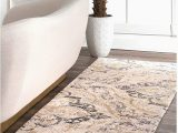 "Nuloom Handmade Bold Abstract Floral Wool area Rug Nuloom Cortney Floral Runner Rug 2 6"" X 8 Ivory"