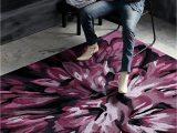 Nuloom Handmade Bold Abstract Floral Wool area Rug Nuloom Mums Wool Rug Aubergine