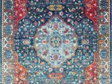 Nuloom Traditional Distressed Medallion area Rug Nuloom New Traditional Vintage Medallion area Rug In Blue