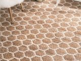 Nuloom Traditional Honeycomb area Rug Monterey Hand Woven Jute Reversible Honey B Natural Rug