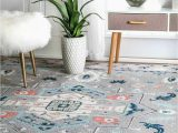 Nuloom Transitional Medallion area Rug Nuloom Transitional Bohemian Dorla Floral Medallion Grey area Rug