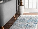 "Nuloom Vintage Distressed area Rug Nuloom Persian Vintage Distressed Runner Rug Light Blue 2 8"" X 8 Feet"