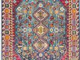 Nuloom Vintage Erline area Rug Nuloom Vintage Erline Framed Floral Rug