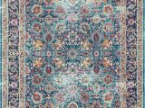 Nuloom Vintage Floral area Rug Nuloom Traditional Vintage Cotton Blend Floral area Rug In Purple Blue orange