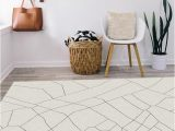 Off White area Rug 5×7 Ruggable Washable Rug Cover & Pad