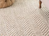 Off White area Rug 5×8 Kiwa Handwoven Jute Jagged Chevron F White Rug