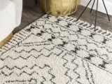 Off White area Rug 5×8 Temara Tribal Moroccan Tassel F White Rug