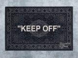 "Off White area Rug Ikea Keep Off"" Designed by Virgil Abloh Men S Artistic Director"
