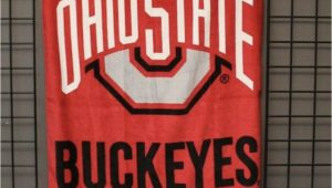 Ohio State Bath Rug Ohio State Buckeyes Beach and Bath towel 30 X 60 Osu Wincraft New with Tags