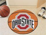 Ohio State Buckeyes area Rug Ohio State Buckeyes 27 Basketball Interior Rug