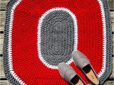 Ohio State Buckeyes area Rug Ohio State Buckeyes Rug Osu Crochet Rug Crochet Block O