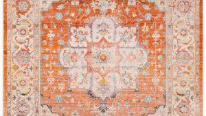 "Orange and Beige area Rug Sherwood orange and Beige Updated Traditional area Rug 5 X 7 9"""