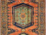 Orange and Blue Persian Rug 7 X 12 Viss Persian Rug