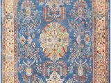 Orange and Blue Persian Rug Blue Antique Persian Sultanabad Rug