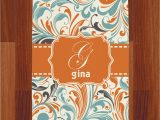 Orange and Blue Runner Rug orange & Blue Leafy Swirls Runner Rug 3 66 X8 Personalized