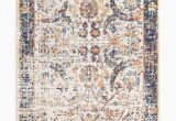 Orange and Blue Runner Rug Sardis orange & Blue Multi Colour Distressed Transitional