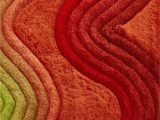 Orange and Green area Rug Crown Shag 3d Green orange Red area Rug
