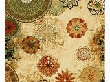 Orange and Green area Rug Derlyum Anti Bacterial Floral Tufted Yellow orange Green area Rug